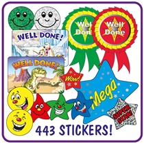 Value Pack 443 Mixed Reward Stickers