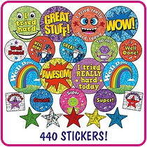 Holographic & Metallic Merit Stickers x 336 in a value pack