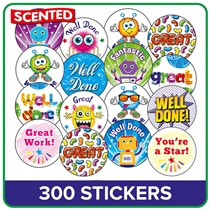 Value Pack Scented Mixed Stickers (25mm x 300)