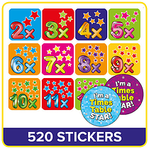 Value Pack Tables Mixed Stars Stickers (20mm) x 520