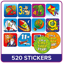Value Pack Tables Mixed Images Stickers (20mm) x 520