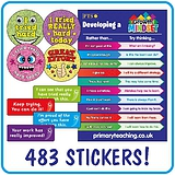 Growth Mindset Mixed Stickers & Poster Value Pack (483 Stickers & Poster)