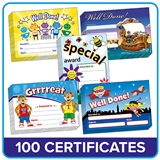 Certificates Value Pack - 5 Designs (100 Certificates - A5)