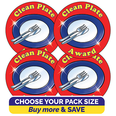 Clean Plate Award Stickers (37mm)