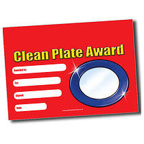 Personalised 'Clean Plate Award' A5 Certificate