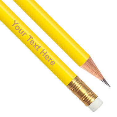 Personalised Yellow Pencil