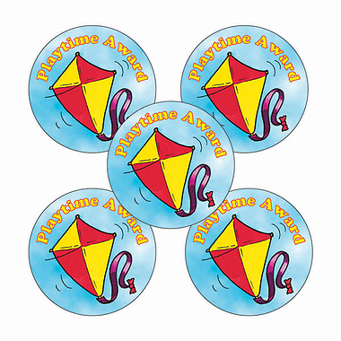'Playtime Award' Kite Stickers (25mm, Multicoloured x 30)
