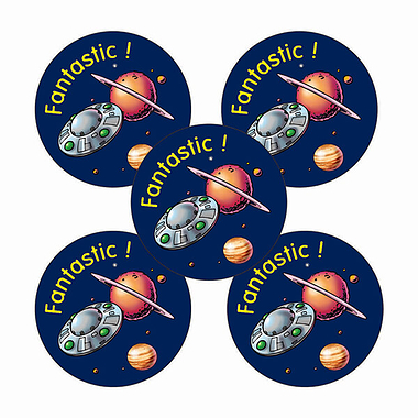 'Fantastic' Planet Stickers (25mm x 30)