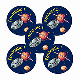 Fantastic Planet Stickers (30 Stickers - 25mm)