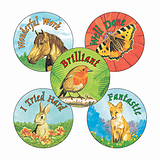 Wildlife Stickers (30 Stickers - 25mm)
