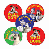 Wallace & Gromit Stickers (25mm, Multicoloured x 30)