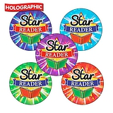 Holographic Star Reader Stickers (30 Stickers - 25mm)