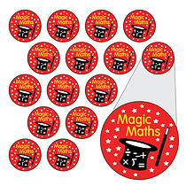 Sheet of 196 Diddi Dot Magic Maths 10mm Stickers
