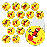 Sheet of 196 Diddi Dot Good Work Tick 10mm Stickers