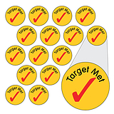 Tick Stickers - Target Met (196 Stickers - 10mm)