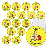 Sheet of 196 Diddi Dot Good Homework 10mm Stickers