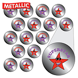 Sheet of 196 Diddi Dot Superstar Metallic 10mm Stickers