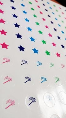 Two Stars and A Wish Stickers (196 Stickers - 10mm)