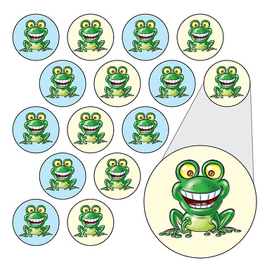 Diddi Dot Green Frog Stickers (196 Stickers - 10mm)