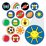 Sheet of 196 Diddi Dot Icons 10mm Stickers