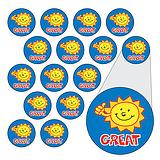 Sheet of 196 Diddi Dot Great Sun 10mm Stickers