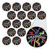 Sheet of 196 Diddi Dot Smashing 10mm Stickers