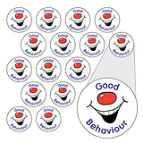 Smiley Stickers - Good Behaviour (196 Stickers - 10mm)