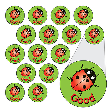Ladybird Stickers - Good (196 Stickers - 10mm)