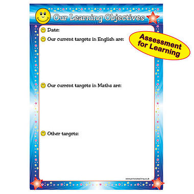 A1 Write & Wipe Learning Objectives Poster  FREE PEN