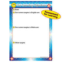 Write & Wipe Learning Objectives A1 Sized Poster  FREE PEN