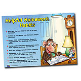 A1 Supersize Plastic Helpful Homework Habits Poster