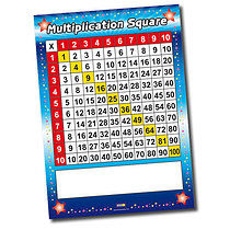A1 Write & Wipe Times Table Poster FREE PEN
