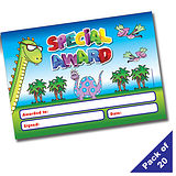 Pack of 20 Special Award Dinosaur A5 Certificates