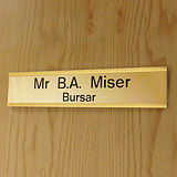 Customised Door Sign - Gold (250mm x 50mm)