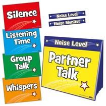 Noise Level Monitor Board - Worksheet Holder & Noise Level A4 Cards
