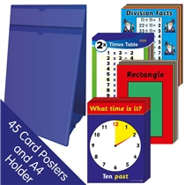Maths Poster Display Pack (45 Card Posters - A4 Holder)