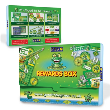 Sticker Box Green Recycled Plastic