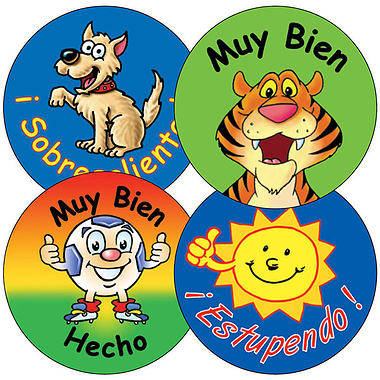 Spanish Phrase Stickers (35 Stickers - 37mm)
