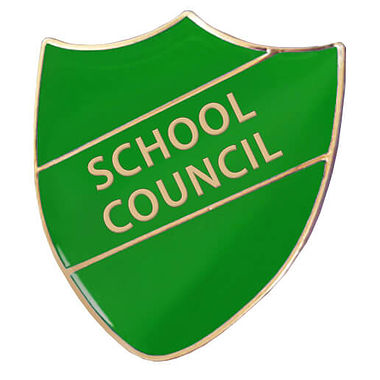 School Council Enamel Badge - Green