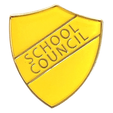 School Council Enamel Badge - Yellow