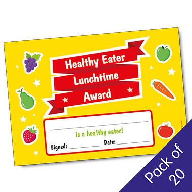 'Healthy Eater Lunchtime Award' A5 Certificates x 20