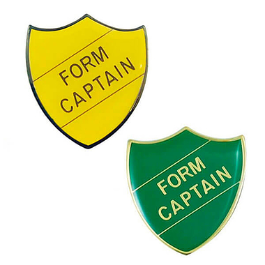 Form Captain Enamel Badge (30mm x 26.4mm)