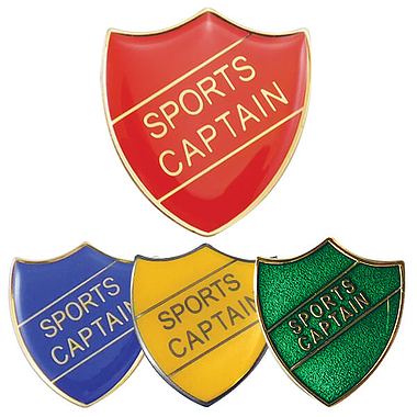 Sports Captain Enamel Badge (30mm x 26.4mm)