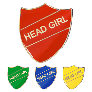 Head Girl Enamel Badge (30mm x 26.4mm)