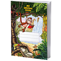 Single Jungle Themed 40 Page Lined Exercise Book