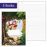 Pack of 5 Jungle Themed 40 Page Lined Exercise Book
