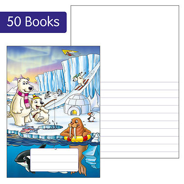Box of 50 Polar Themed 40 Page Lined/Blank Exercise Book