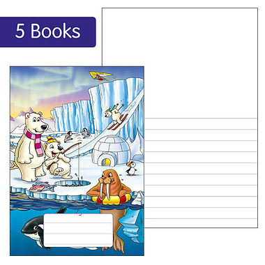 Pack of 5 Polar Themed 40 Page Lined/Blank Exercise Book