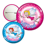 Pack of 10 Mixed Fairies Button Badges