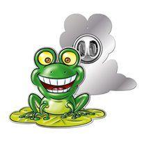 Good to be Green Frog Enamel Badge